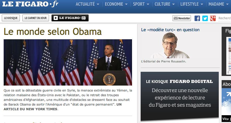 Copie d'écran page Mon Figaro