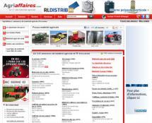 Capture d'écran de la page d'accueil du site d'Agri-affaires