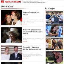 Capture d'écran du site Jours de France