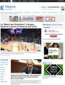Capture d'écran du site France 3 Régions